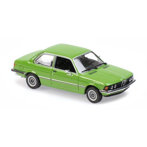 BMW 323i (E21) 1975 groen - Modelauto 1:43