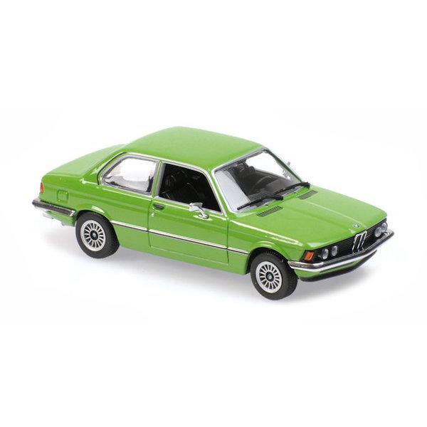 Modelauto BMW 323i (E21) 1975 groen 1:43