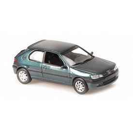 Maxichamps Peugeot 306 1998 groen metallic - Modelauto 1:43