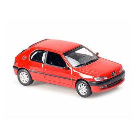 Maxichamps Peugeot 306 1998 rood - Modelauto 1:43