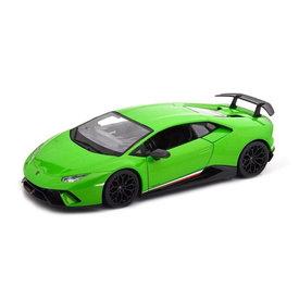 Maisto Lamborghini Huracan Performante 2017 groen - Modelauto 1:18