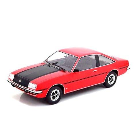 Opel Manta B SR 1975 rood/zwart - Modelauto 1:18