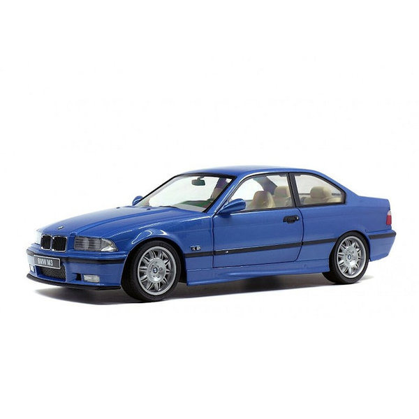 Modelauto BMW M3 Coupe (E36) 1990 blauw metallic 1:18