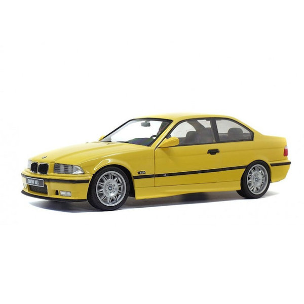 Modelauto BMW M3 Coupe (E36) 1994 geel 1:18