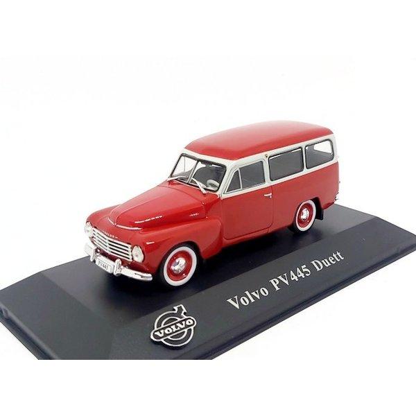 Modelauto Volvo PV445 Duett 1953  rood/wit 1:43