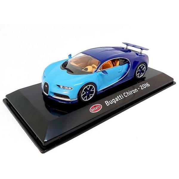 Modelauto Bugatti Chiron 2016 lichtblauw/blauw 1:43