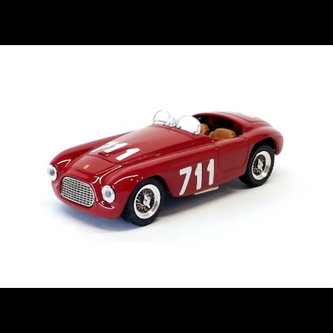 Ferrari 166 MM No. 711 1950 rood - Modelauto 1:43