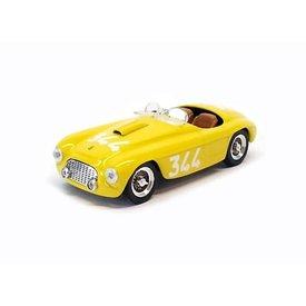 Art Model Ferrari 166 MM Spider No. 344 1951 geel - Modelauto 1:43