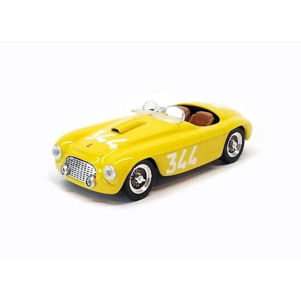 Model car Ferrari 166 MM Spider No. 344 1951 yellow 1:43 | Art Model