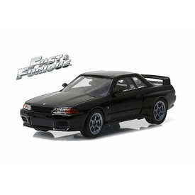 Greenlight Nissan Skyline GT-R (R32) 1989 zwart - Modelauto 1:43