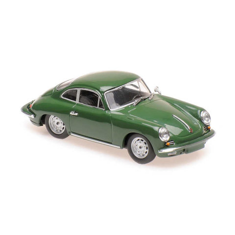 Porsche 356 C Carrera 2 1963 donkergroen - Modelauto 1:43