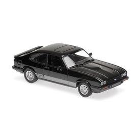 Maxichamps Modelauto Ford Capri 1982 zwart 1:43