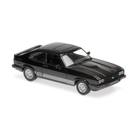 Ford Capri 1982 zwart - Modelauto 1:43