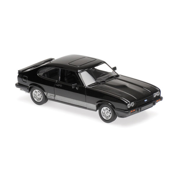 Modelauto Ford Capri 1982 zwart 1:43