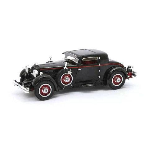 Stutz Model M Supercharged Lancefield Coupe 1930 zwart - Modelauto 1:43