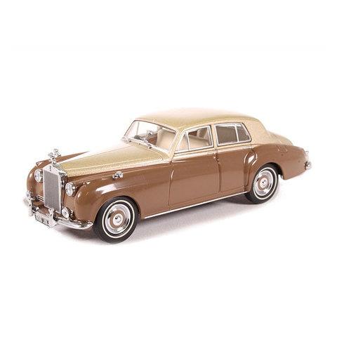 Rolls Royce Silver Cloud I beige metallic/bruin - Modelauto 1:43