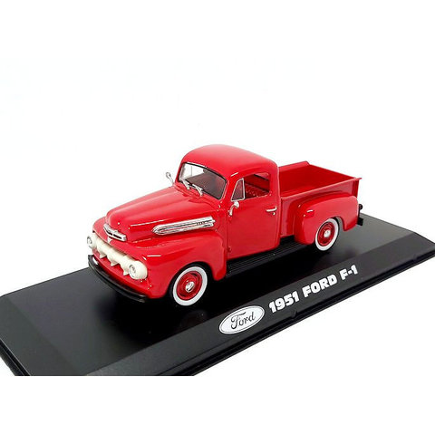 Ford F-1 1951 rood - Modelauto 1:43