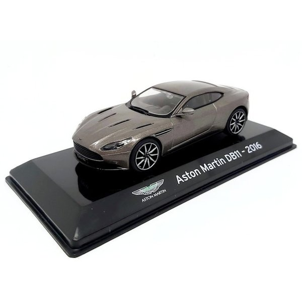 Modelauto Aston Martin DB11 2016 grijs metallic 1:43
