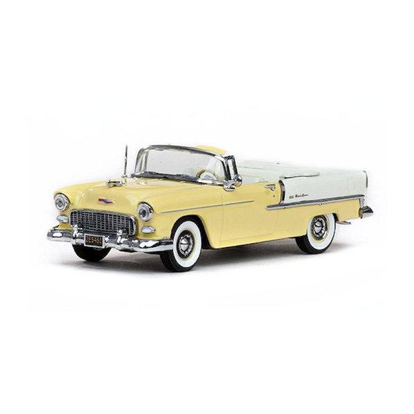 Model car Chevrolet Bel Air Convertible 1955 Harvest gold 1:43