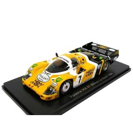 Spark Porsche 956 no. 7 (New Man) 1984 - Modelauto 1:43