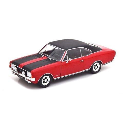 Opel Commodore A GS/E 1970 rood lichtgroen - Modelauto 1:24