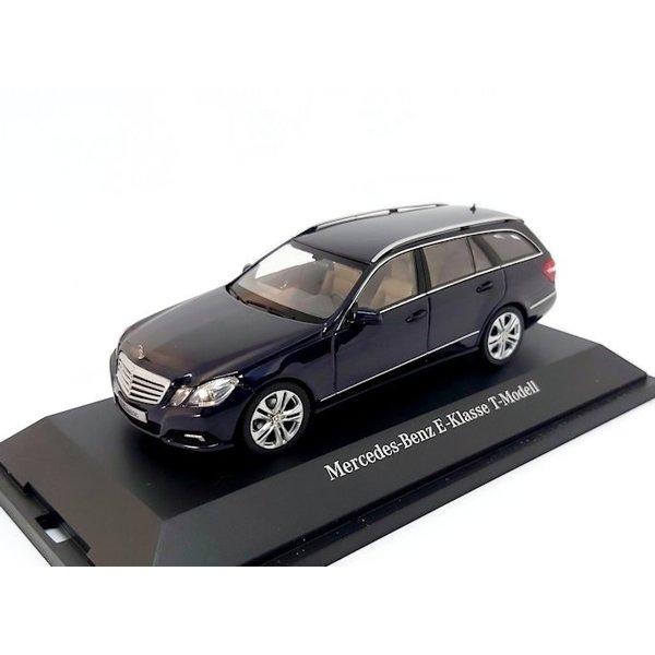 Model car Mercedes Benz E-Class Estate 2009 dark blue metallic 1:43