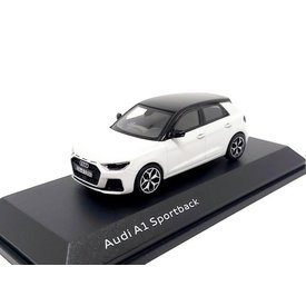 iScale Audi A1 Sportback 2018 white metallic/black- Model car 1:43