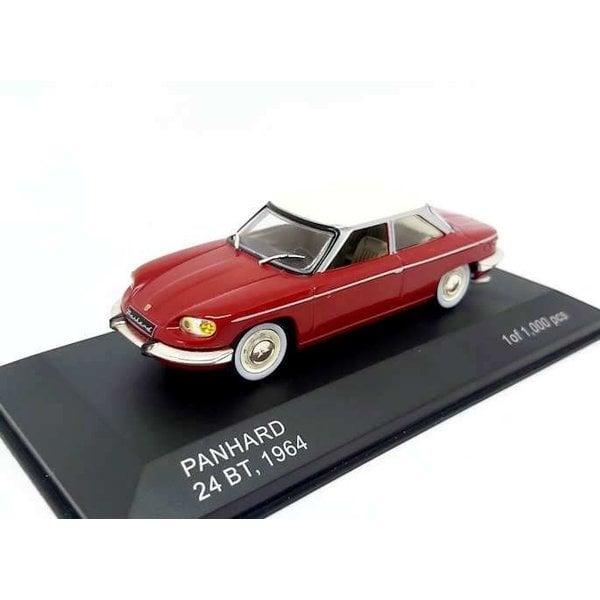Model car Panhard 24BT 1964 dark red/beige 1:43   WhiteBox
