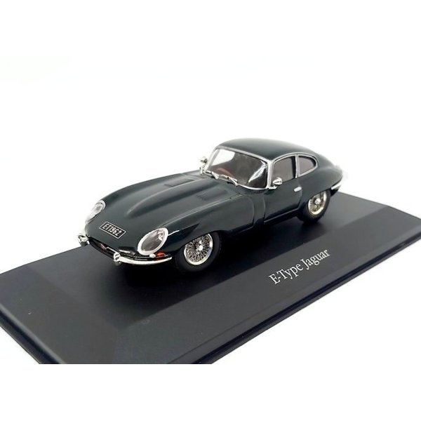 Modelauto Jaguar E-type Coupe 1961 racing groen 1:43