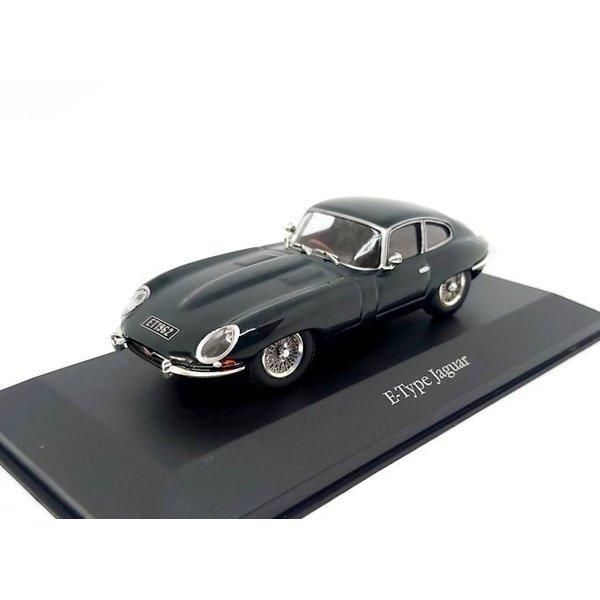Modellauto Jaguar E-type Coupe 1961 racing grün 1:43