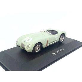 Atlas Model car Jaguar C-type 1952 No. 50 light green 1:43