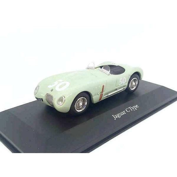 Model car Jaguar C-type No. 50 1952 light green 1:43 | Atlas (Editions Atlas)
