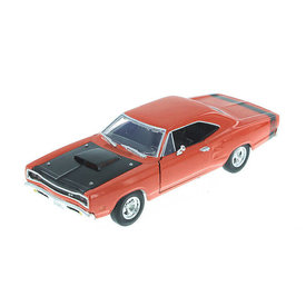 Motormax Dodge Coronet Super Bee 1969 oranje/zwart - Modelauto 1:24