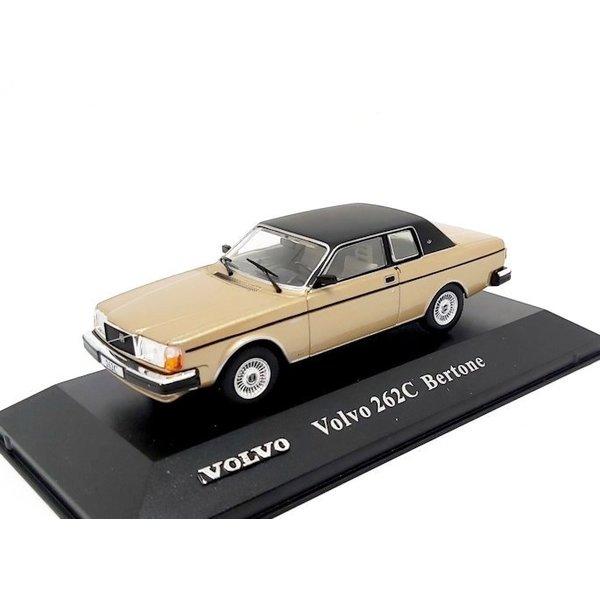 Modelauto Volvo 262C Bertone 1977 goud / zwart 1:43