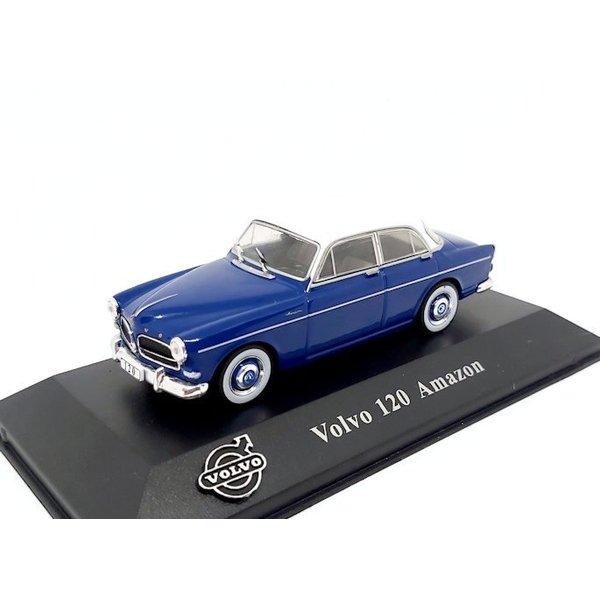 Model car Volvo 120 Amazon 1956 blue / white 1:43