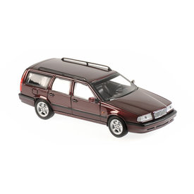 Maxichamps Volvo 850 Break 1994 donkerrood metallic - Modelauto 1:43