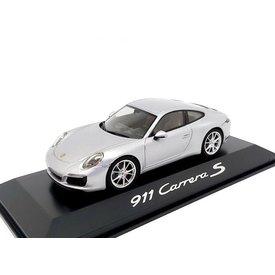 Herpa Porsche 911 (991 II) Carrera S Coupe 2016 zilver - Modelauto 1:43