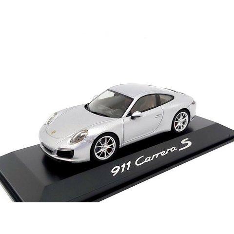 Porsche 911 (991 II) Carrera S Coupe 2016 zilver - Modelauto 1:43