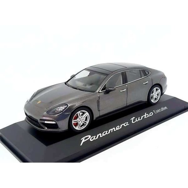 Model car Porsche Panamera Turbo Executive 2016 agate grey metallic 1:43