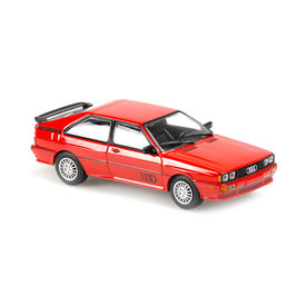 Maxichamps Audi Quattro 1980 rood - Modelauto 1:43