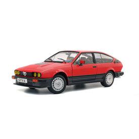 Solido Alfa Romeo GTV6 1984 rood - Modelauto 1:18