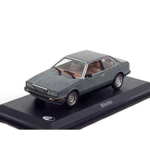 Maserati Biturbo grijs metallic - Modelauto 1:43