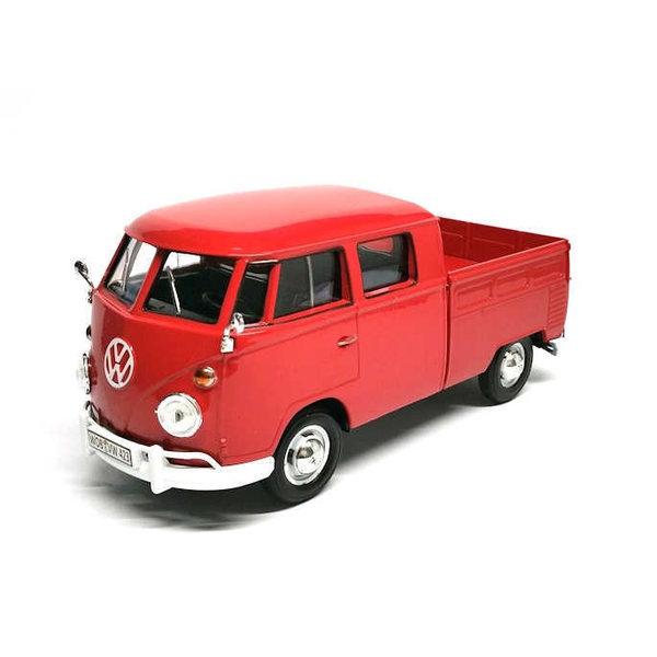 Modellauto Volkswagen T1 pick-up rot 1:24