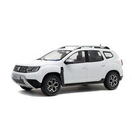 Solido Dacia Duster Mk 2 2018 wit - Modelauto 1:18
