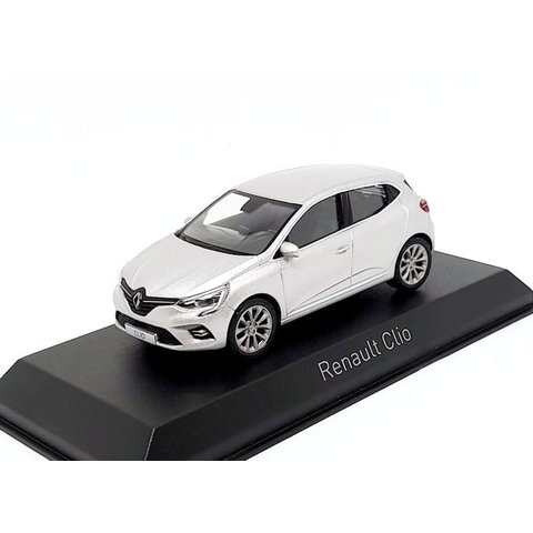 Renault Clio 2019 platinazilver - Modelauto 1:43