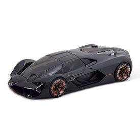 Bburago Lamborghini Terzo Millennio 2018 matzwart - Modelauto 1:24