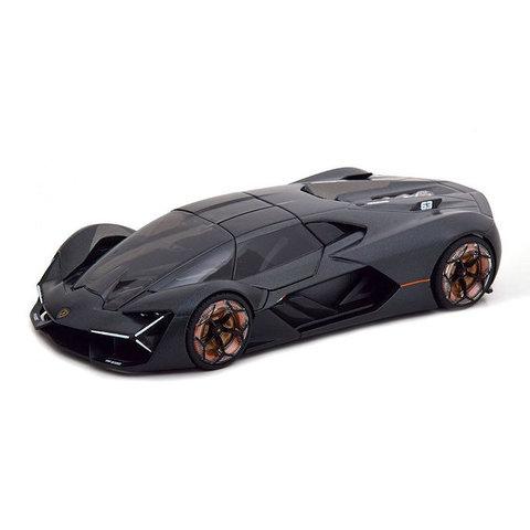 Lamborghini Terzo Millennio 2018 matzwart - Modelauto 1:24