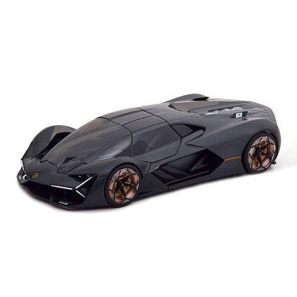 Model car Lamborghini Terzo Millennio 2018 matt black 1:24