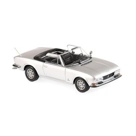 Maxichamps Peugeot 504 Cabriolet 1977 silber metallic - Modellauto 1:43