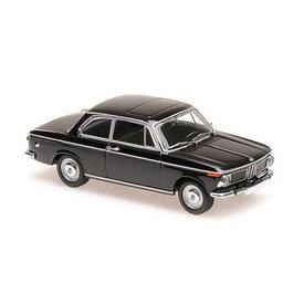 Maxichamps BMW 1600 1968 zwart - Modelauto 1:43